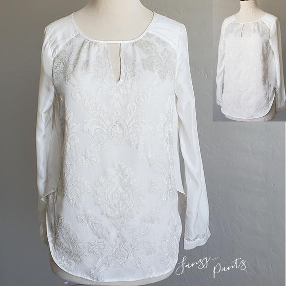 Sundance Tops - Sundance catalog silk embroidered peasant top